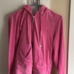 Juicy Couture hot pink ladies jacket/hoodie.